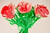 The dairy rose (my_LittleDuck) Tags: 52in2017 week02 whitebackground milk cream dairy flower flowers rose red green foodcolouring