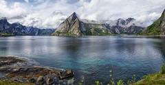 Hamnøy panorama (marko.erman) Tags: reine lofoten norway moskenesøya sony island archipelo landscape mountains sea clouds panorama nature travel popular pov outside rocks slopes beauty beautiful serene serenity quiet extérieur hamnøy