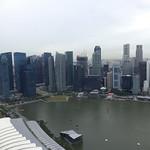 Aussicht vom Marina Bay Sands, Singapur