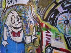 Humpty (littlegirllost) Tags: street city urban art graffiti stencil arcade melbourne centreplace