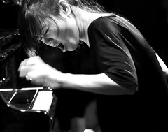 Hiromi (Belltown) Tags: seattle bw music japanese blackwhite live interestingness1 performance piano jazz hiromi top20livemusic jazzalley konzertfotos i500 photodomino217
