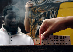 Dominos with Son (Nav A.) Tags: black yellow youth hand grafiti smoke cuba dominos nav shugal tobbacco navpreetamole
