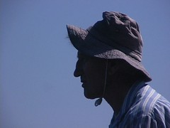 richard (BotheredByBees) Tags: portrait man wearing hat silhouette dick oldman richard pike familyandfriends
