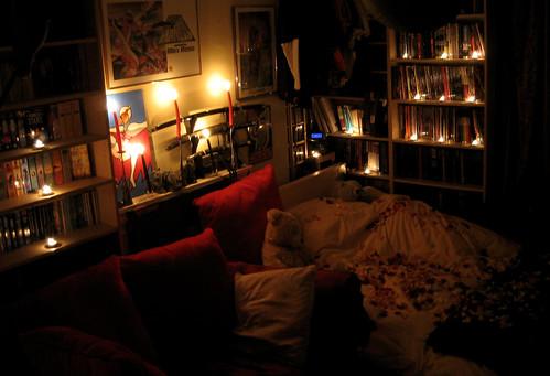 لمسات رومانسية لغرفة النوم
