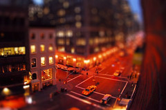 Fake tilt-shift (Mark Demeny) Tags: newyork photoshop fake hotelroom fauxtiltshift tiltshiftfake fakemodel