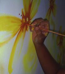 PP7 in action (Petite Poupe7) Tags: art myjob decorao santateresa memyselfi loveisdivine femaleattack chezju decomju pintando7 pp7inaction 5daysofdapainting