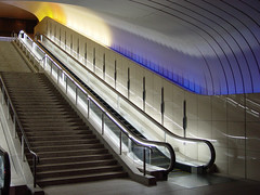 escalators, atami (Alan Wentworth) Tags: color japan museum architecture modern escalator explore atami alanwentworth