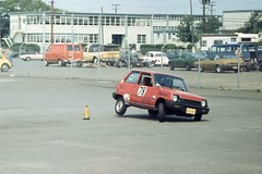 Renault R5 (LeCar)Autocrossing, MAFB, 04Jul77 a (Belle'sDaddy) Tags: auto sports car club flying automobile renault autocross burrows r5 autocrossing mcguireairforcebase 5car
