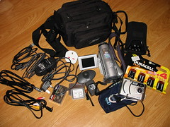 What's in my Camera Bag (Nick J Adams) Tags: camera videocamera whatsinmybag gadgets