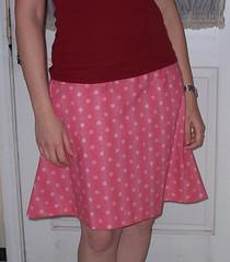 My first sewn garment! (stupid clever) Tags: red skirt polkadots redskirt sewiknit projectspectrum betsyross001 onehotskirt