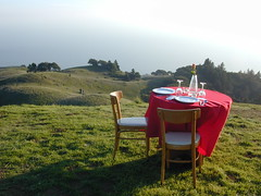 Engagement Dinner table on Mt.Tam
