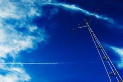 Cirrus (eric_kelley) Tags: blue sky airport antenna lovephotography