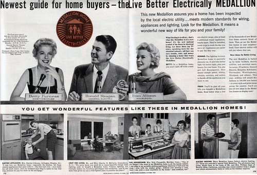 vintage retro 1950s electricity ronaldreagan