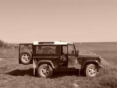 Land Rover Adventure (LitterART) Tags: sea summer vacation holiday beach nature car fun freedom tour offroad time free croatia dirty adventure crosscountry dirt heat vehicle landrover istria defender kamenjak premantura