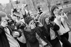 Paparazzi (CAZASCO / Benoît Ferradini) Tags: blackandwhite bw film vancouver momo bc noiretblanc tmax blankartist granvilleisland goddessspiral vandigicam seawallrunner icathing cazasco kaishin ferradini steena portraithrowdown2