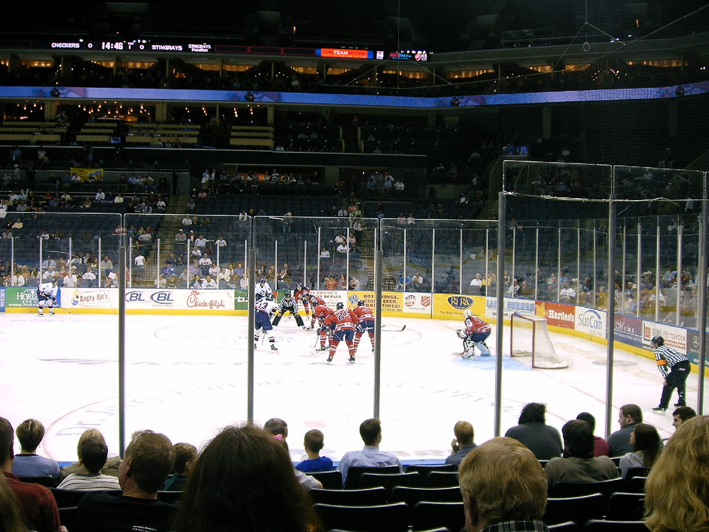 Charlotte Checkers hockey playoff game 2,