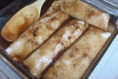 Apple Enchiladas (Fingers In The Frosting) Tags: cooking apple recipe dessert sweet cinnamon sugar mexican homemade tortillas baked enchiladas