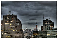 Black rain (Arnold Pouteau's) Tags: nyc newyorkcity newyork downtown manhattan esb tribeca outsidethewindow hdr