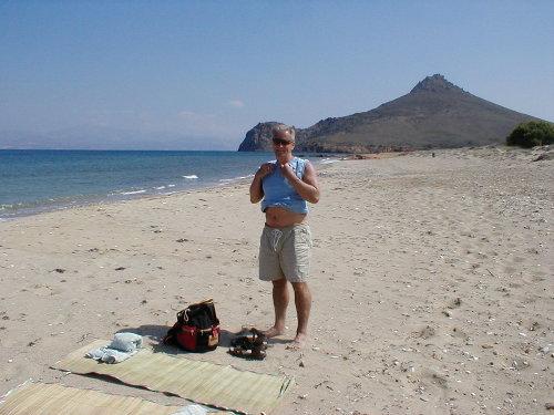 deserted beach on paros