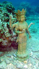 #1705 Goddess of Mercy (観音) (Nemo's great uncle) Tags: dive scuba diving kannon 觀音 観音 goddessofmercy guānyīn 潜り 観世音 avalokiteśvara lokesvara 聖観音