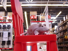 DSC00896 (Faded Photograph) Tags: red signs ikea toy mouse store stuffed chair rat things warehouse rats end merchandise