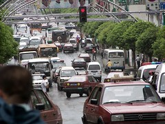 traffic (xiaoprimaprod) Tags: china street signs cars traffic taxi taxicabs