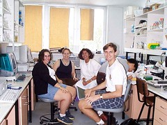 Lab Group Shot ca. 1999 (timbeckenham) Tags: work science 1999 department microbiology uq