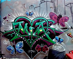 MIA (See El Photo) Tags: street 15fav streetart art wall butterfly graffiti wings alley paint heart great butterflies melrose spraypaint wai lovely greenline cbs alleyart 1f faved uti iloveu 5f plek 222v2f 111v1f cbscrew iheartu seeelphoto chrislaskaris