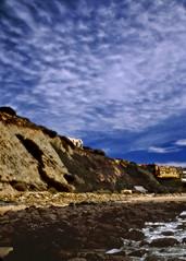Beach walk (Rich (Sparky_R)) Tags: sky beach tag3 taggedout landscape nikon tag2 fuji tag1 f100 velvia100 tamron28300