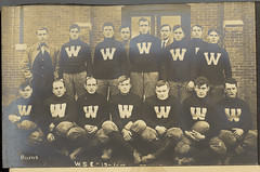 Not The 1915 Washington State College Football Team (And Not The 1916 Washington State College Football Team); Some Other Washington State College Football Team (mrwaterslide) Tags: old vintage football team antique album postcard wsu oldphoto vernacular footballplayers 1916 rppc realphoto realphotopostcard washingtonstatecollege