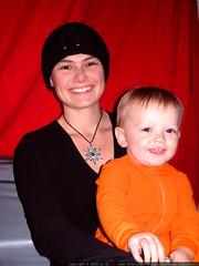 rachel and nick - orange and black on halloween morning - dscf6937