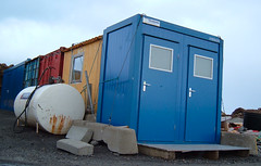 Strap down the outhouse (Jan Egil Kristiansen) Tags: storm wind toilet safety container wc mooring strap outhouse brace faroeislands portapotty dass concreteslab froyar utedo hoyvk strapitdown damageprevention dscf1347