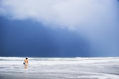 waiting at the coast (Ali Brohi) Tags: ocean blue 20d beach canon coast waves florida horizon atlantic shore cocoabeach centralflorida seedingchaos moazzambrohicom httpwwwmoazzambrohicom wwwmoazzambrohicom