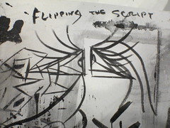 Flipping The Script (DSC05055) (indieink) Tags: people art table artist gallery grafitti district ad performance pictured sanjose progress exhibit exhibition sofa galleries doodle installation misha bittleston process residency worktable annodomini galleryad mishabittleston urbancontemporary doodled flippingthescript