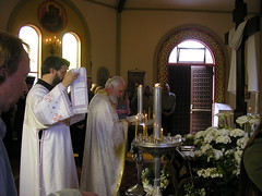 Deacon and Hieromonk (Olympiada) Tags: people fire baptism orthodoxchristian deacon hieromonk holysaturday paschalvigil vesperalliturgy