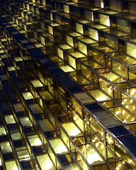 Golden Stairs (amy allcock) Tags: windows toronto ontario canada abstract building glass architecture modern 1025fav 2006 2550fav april royalbank rbc gtaa rbctower enlighteningmosaic