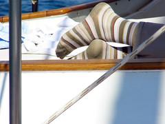 socks & rope (pucci.it) Tags: rope stripysocks femalefeet