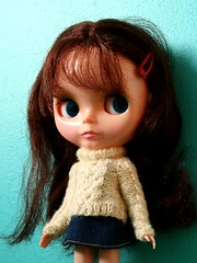 Petunia Kibbles (Helena / Funny Bunny) Tags: doll knit kenner blythe 1972 portofolio kennerblythe funnybunny petuniakibbles