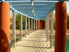 Sheraton Miramar Resort El Gouna, Hurghada - Egypt (mnadi) Tags: flowers sunset red summer sky orange holiday flower colour garden hotel warm colours outdoor redsea curves egypt sunny el resort arabic clear gouna egyptian styles sheraton ethnic spa miramar hurghada michaelgraves bedouin  nubian elgouna