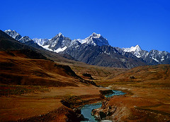 Little Tibet (meansmuchtome) Tags: china blue pakistan sky mountain snow mountains ice water river tibet glacier clear kashmir northernareas nwfp chitral ishkoman