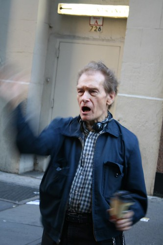 "5\1\2006 Immigration Rights March - A man screams at the marchers to ""go home"""
