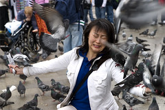 piazza san marco, venice (cosentino) Tags: venice italy woman pigeons 10d piazzasanmarco venice2006