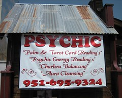 sign for psychic reader shop