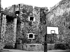 Campo da basket (Nicola Beccu) Tags: blackandwhite bw landscapes nicola componidori beccu