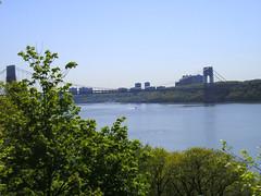 Take the Bridge to Jersey (ScottNEllen) Tags: newyorkcity spring georgewashingtonbridge forttryonpark