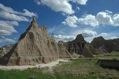 Badlands National Park, South Dakota (Thad Roan - Bridgepix) Tags: sky mountains clouds southdakota skyscape spectacular landscape ilovenature scenery desert d70 badlands badlandsnationalpark spectacularclouds