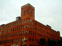 South Bronx Clock Tower (justiNYC) Tags: nyc newyorkcity red building bronx clocktower fotour southbronx brucknerblvd