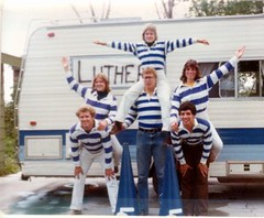 family blue college sports vintage notmine team scans midwest cheerleaders stripes uncle jim iowa formation heartland 70s cheer rv squad myfamily seventies pep sporty luther jimmer