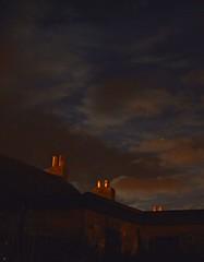 Single Star (Viche) Tags: sky night star scotland rooftops fife windygates