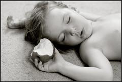 Snow White (EightJs) Tags: bw apple kid child sleep 100v10f 500v50f 200v20f nikonstunninggallery abigfave tc62quiet